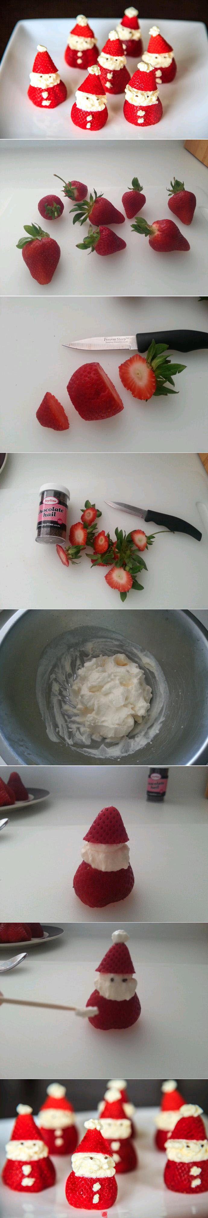 des fraises à noël