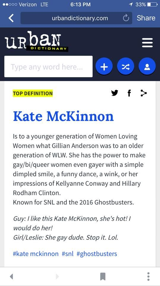 I love the urban dictionary right now