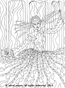 #ColoringPage from the coloring book 'The Women of Quirly'. Available on Amazon - https://www.amazon.com/dp/152343760X #AdultColoringBooks