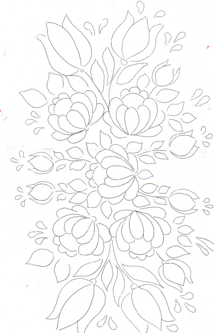 Floral Bunch pattern for painting / embroidery / applique / .... Love the flourishing & Happy effect of this design !
