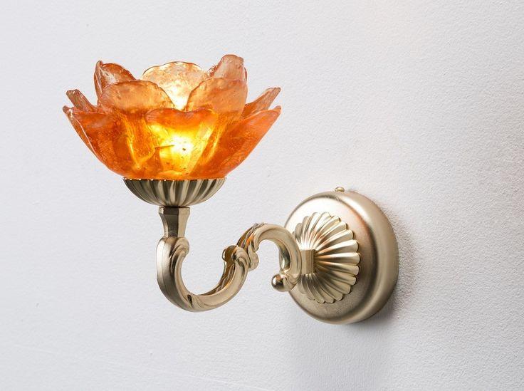 Tiger Lily Orange Wall Light