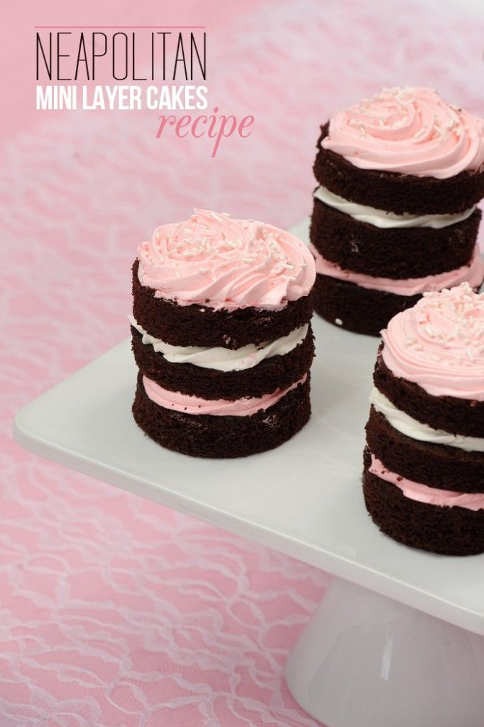 Mini Stacked Neapolitan Cakes