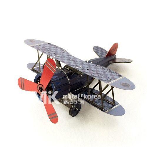 Metal In Korea Biplane Actual Color 3D Innometal Steel Metal Model Kits #MetalInKorea3DInnoMetal