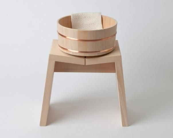 Hinoki Bath Stool and bucket. Must have for Japanese bath.
