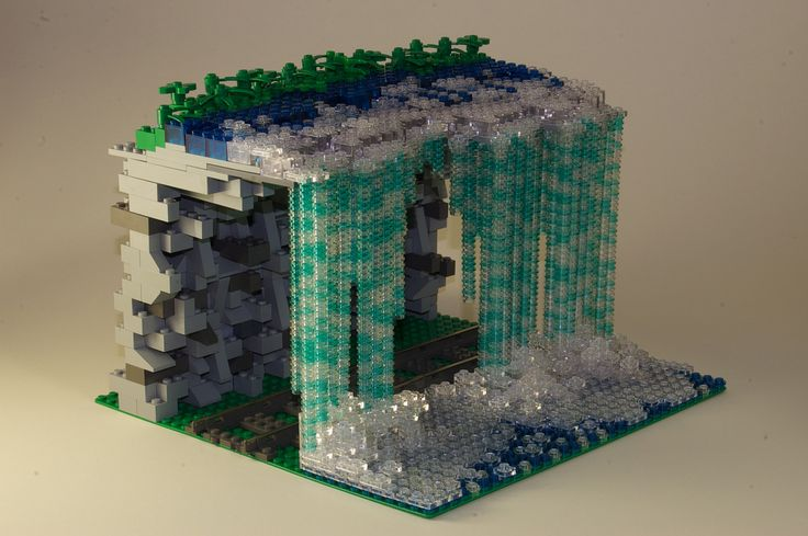 Ryushi's Creations: LEGO Waterfall