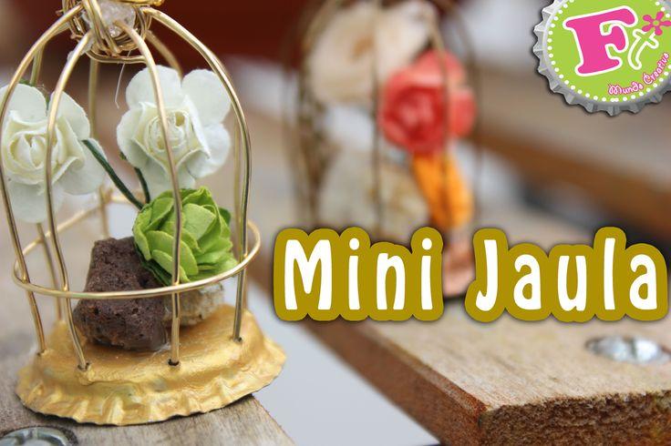 Mini Jaula con Corcholata para el día de las madre...
