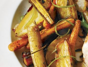 Poêlée de légumes racines à l'érable et au romarin sur Wikibouffe
