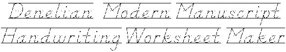 Great website... lets you make your own customized handwriting worksheets!  Type in a word, phrase or sentence.