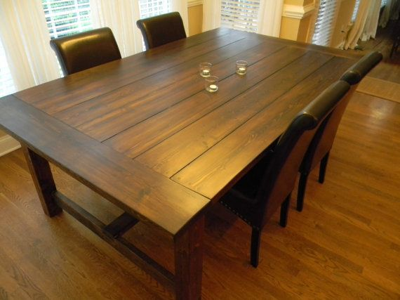84 Long- Extra Wide Farmhouse Dining Table via Etsy | For