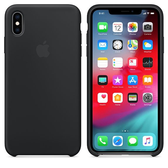 (new)  39.00 – black iPhone XS Max silicone case on iPhone XS Max space  gray  c7aa1496d22f4