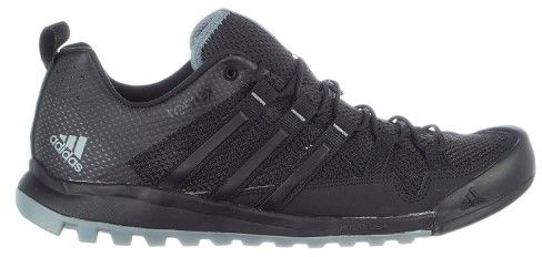adidas Outdoor Terrex Solo Trail Running Hiking Sneaker Shoe - Black/Vista Grey/Chalk White - Mens - 8