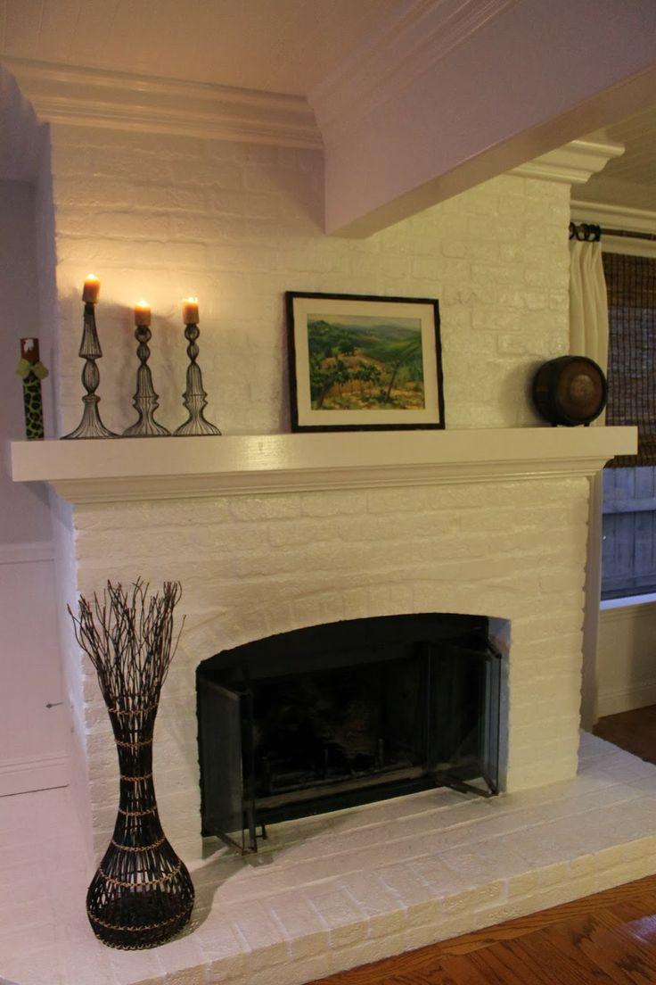 White Brick Fireplace Decorate Pinterest