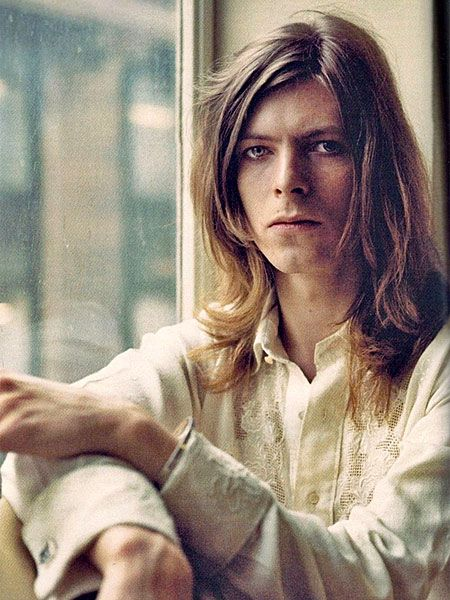 David Bowie window shirt, 1971, from Brian Ward sessions for the cover of Hunky Dory.
