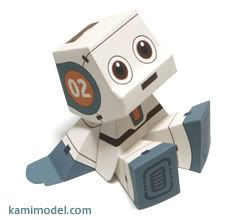 """another paper toy.  check it out here: http://rommy.kamimodel.com/index_e.html . Hurry up and download ROMMY """"No.02"""" paper craft model and a..."""