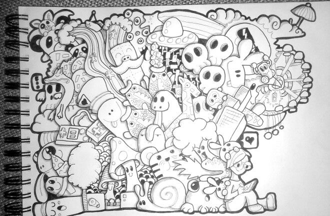 Doodle by Qarin Piehl. Inspired by pickcandle.