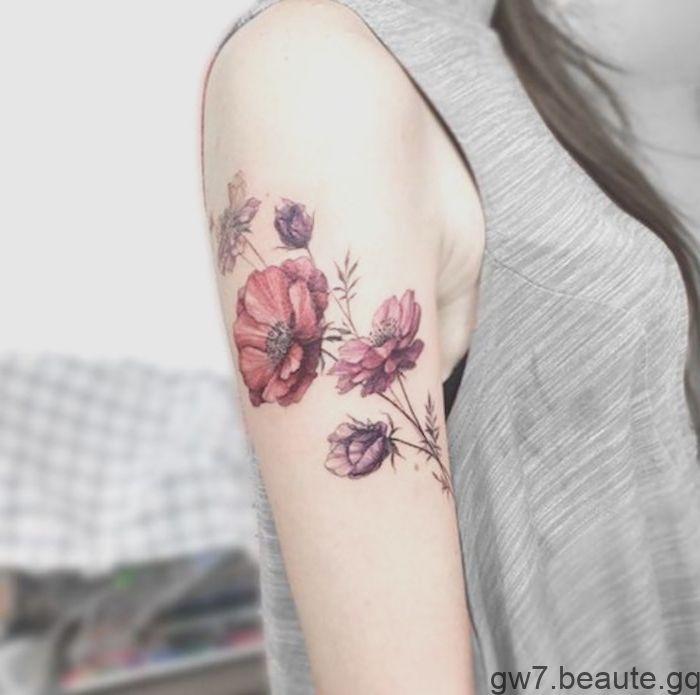 Epingle Sur Tatouage Floral