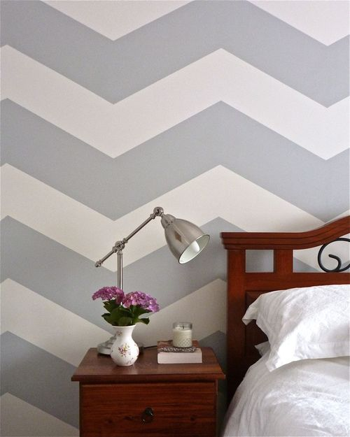 love the soft grey and the chevron