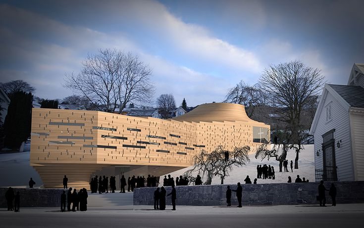 the building will be sited next to the existing structure, setting up a dialogue between old and new.