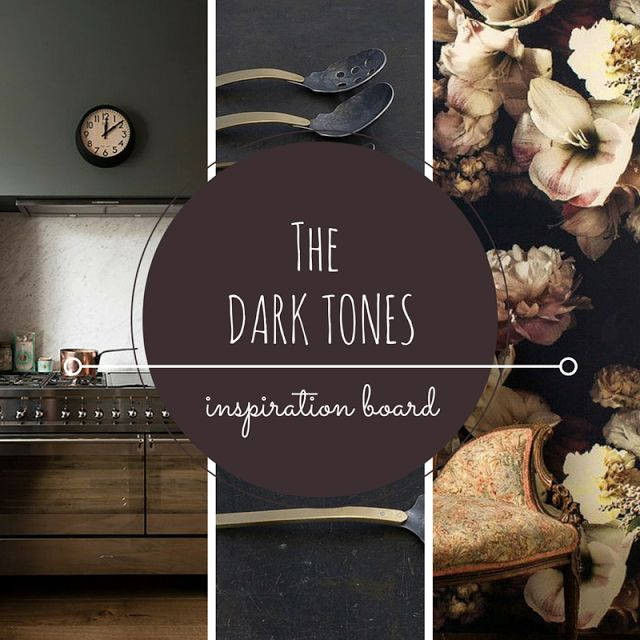 Dark colors, dark tones, dark walls, dark color inspiration board • the Round Button blog