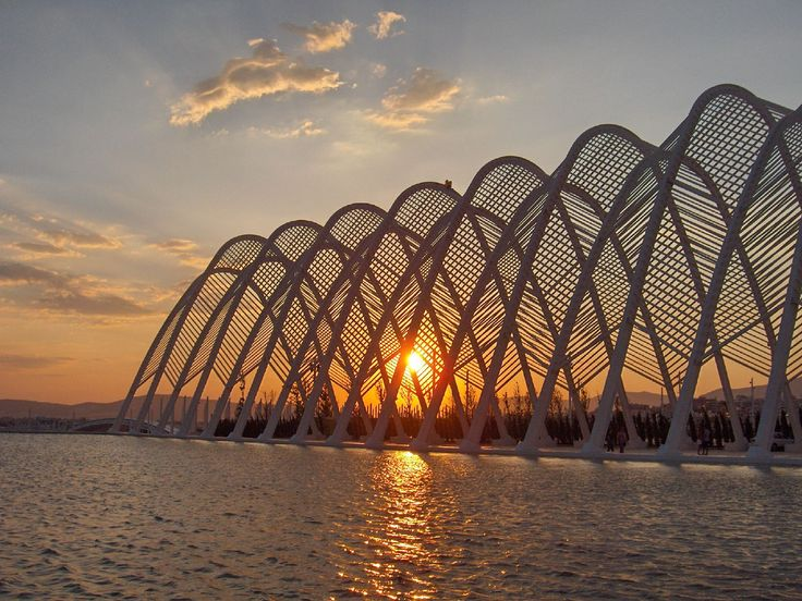 Agora at sunset .Part of the Olympic complex in Athens. Another Santiago Calatrava masterpiece! Entry for Best Sunset category ‪#‎bestofgreece‬
