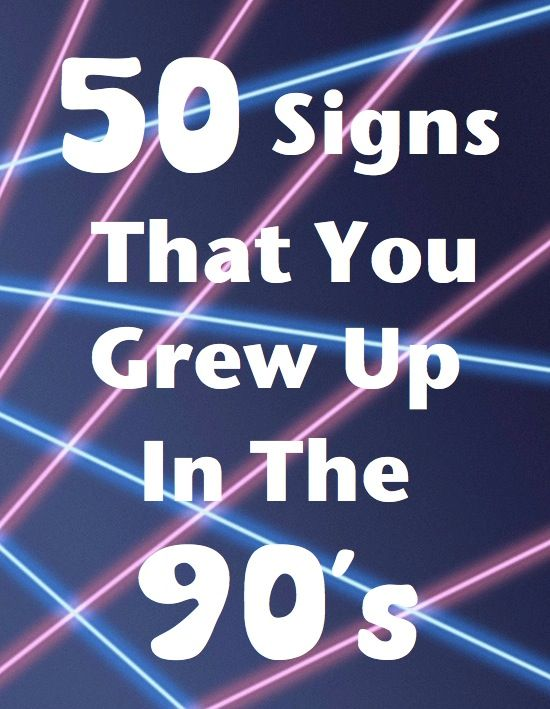 Oh the 90's!!!