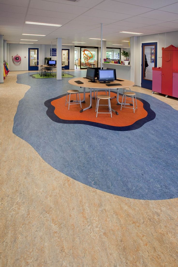 Elementary School  De Schakel    Vinkeveen  the Netherlands   Marmoleum  Real Fresco. 95 best images about Marmoleum References on Pinterest