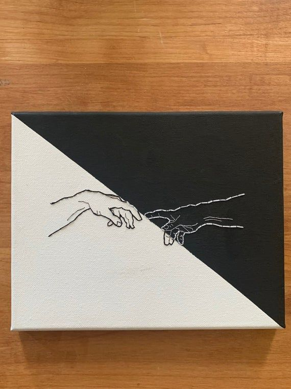Hands Almost Touching Painting : hands, almost, touching, painting, CUSTOMIZABLE***, Michelangelo, Creation, Hands,, Canvas, Embroidery, Embroidered, Painting