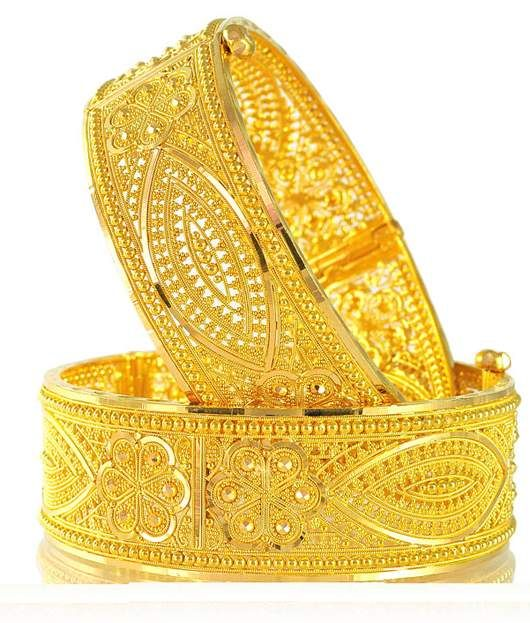 Golden kada bangle deisgn
