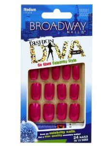 Broadway Nails Fashion Diva Celebrity Style Medium Length BGGD05 Shimmer . $1.19