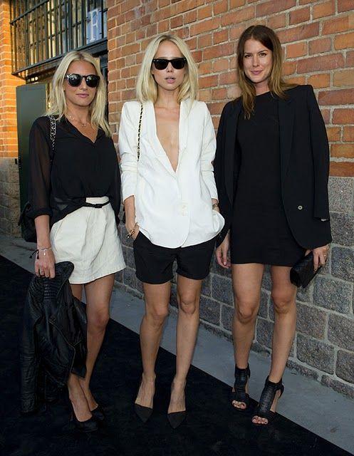 black and whiteBlackandwhite, Fashion, Inspiration, Black And White, Street Style, Outfit, Black White, Elin Kling