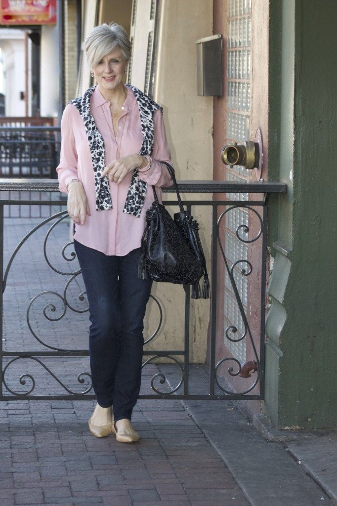 Pale Pink, Animal Print Cardigan and Jeans, Perfect for anywhere, anytime