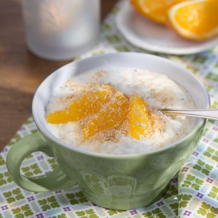 Kokosmilchreis mit Orangenfilets