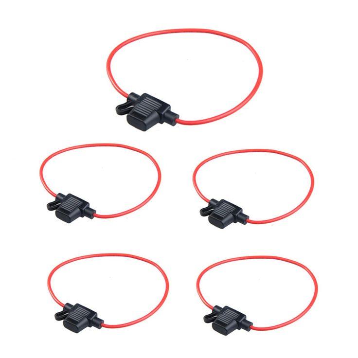 5 יחידות שקע חשמל מיני עמיד למים סוג להב נתיכי החלפה בבעלי פתיל קו עם 10A נתיך רכב משלוח חינם