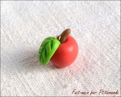 Tuto : réaliser une Pomme en pâte polymère, par Ptitamande - La Fourmi creative