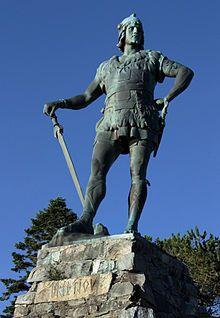 Fridtjov den frøkne, konge over Ringerike og Sogn, Norway. Location Vangsnes i Sogn , Norway