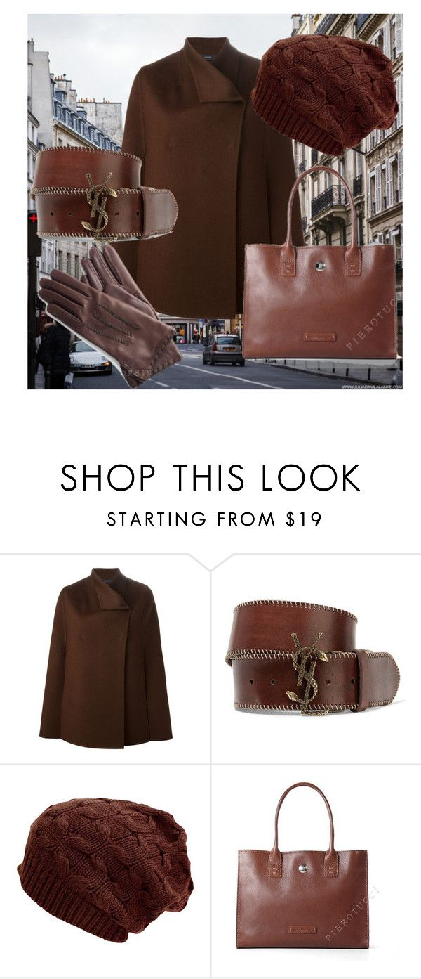 """""""Ready to go"""" by gasheeva on Polyvore featuring Joseph, Yves Saint Laurent, leatherbags, leathergloves and Pierotucci"""