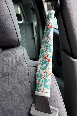 seatbelt covers tutorial. Protectores acolchados para los cinturones de seguridad. Tutorial en inglés con fotos.