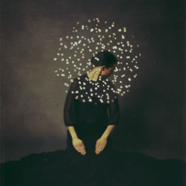 """""""Between Lock and Key"""" is artist Josephine Cardin Photography's newest mixed-media self-portrait series"""
