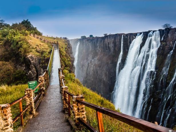 victoria falls, waterfall, 7 wonders, zambia, africa