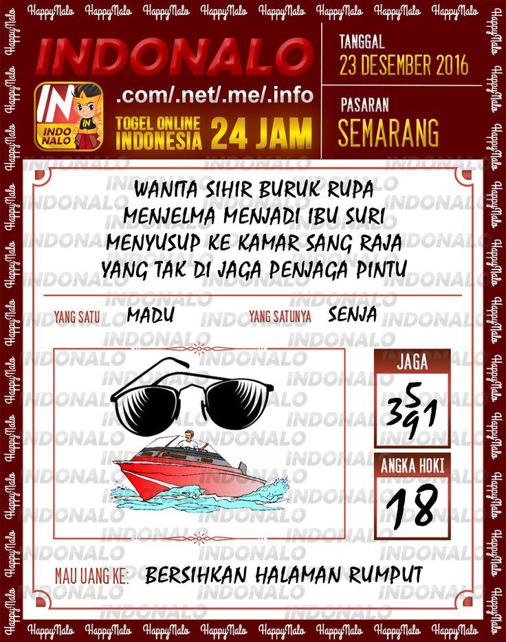 Angka Main 6D Togel Wap Online Live Draw 4D Indonalo Semarang 23 Desember 2016