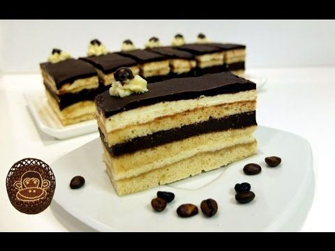 Opera cake, recipe, step by step. - YouTube