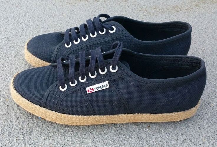 SUPERGA 2750 Cotropew Navy Blue Canvas Espadrille Women's Trainer SZ 8.5 EU 39.5 #Superga #TrainersSneakers #CasualWalkingFashion