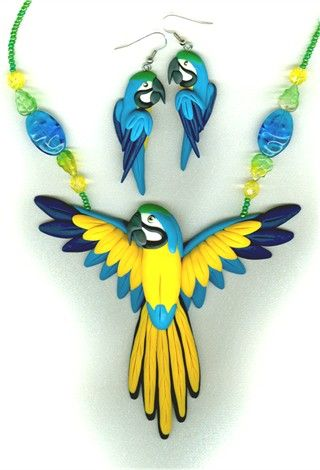polymer clay birds | Polymer Clay Beads and Beading Artisans – Jewelry – Jewelry Trends