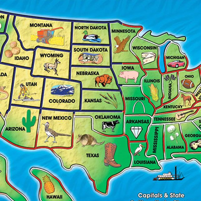 Best Usa States Names Ideas On Pinterest States In United - Usa map with state names and capitals