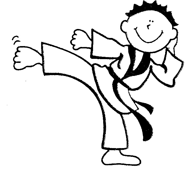 Printable Coloring Pages Karate 123 Best Images On Pinterest