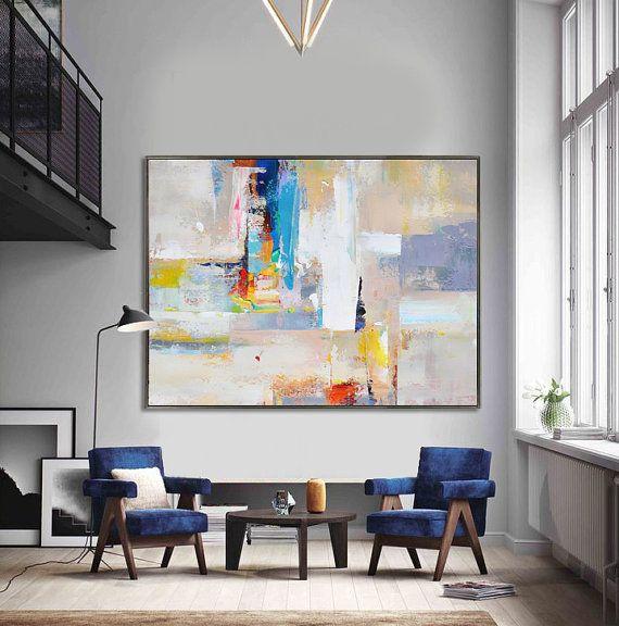 Handmade Extra Large Contemporary Painting Huge par CelineZiangArt