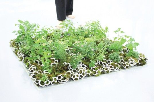 Smart Small is a Collection of Small, Modular Planters for Herbs and Mosses