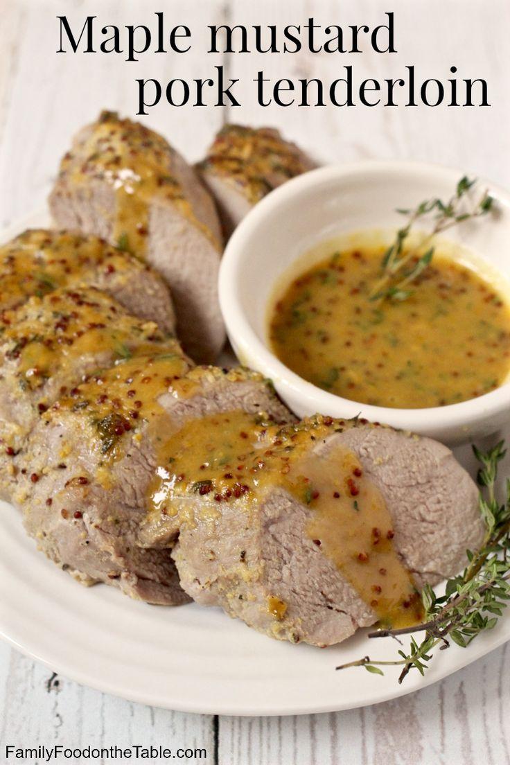 Maple mustard pork tenderloin - an easy, hands-off dinner | FamilyFoodontheTable.com