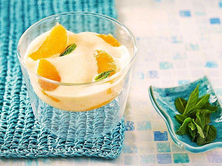 Prosecco - Zabaione auf Orangenfilets - fruchtig und frisch