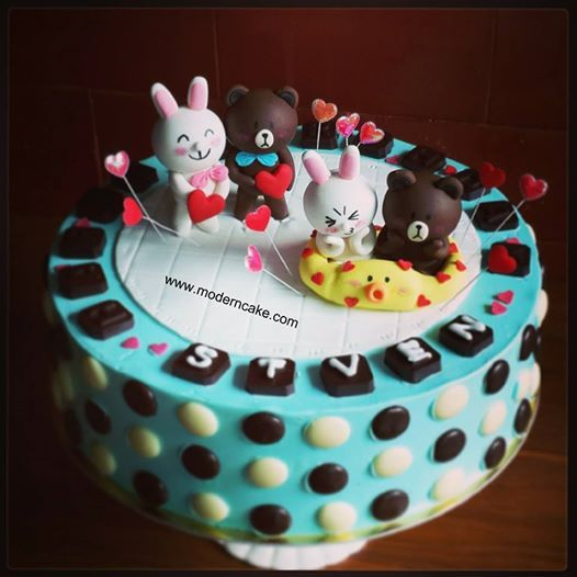 Line Brown Cony Cake